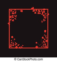 floral overlapping border