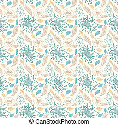 floral példa, mód, seamless, retro