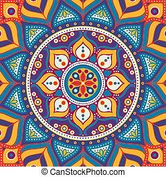 floral példa, seamless, etnikai