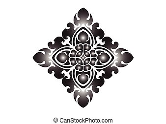 floral példa, white háttér