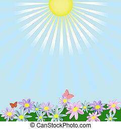 floral, paisagem