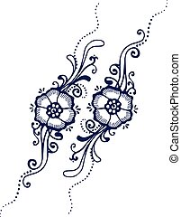 Floral Paisley Henna