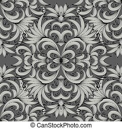 Floral paisley seamless pattern. Vector background with doodle s