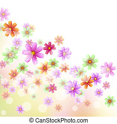 floral, papel parede, borda