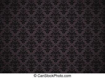 floral, papel parede