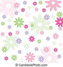 floral, papel pintado, seamless, patrón