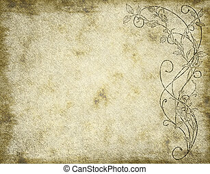 floral paper or parchment - large image of floral paper ...