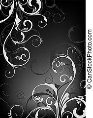 floral, papier peint, conception, /