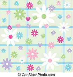 floral, papier peint, seamless, modèle