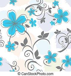 floral, pastel, c, seamless, padrão