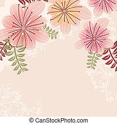floral, pastel, marco