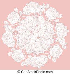 floral, pastel, vector