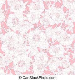floral, pastel, vector, frame.