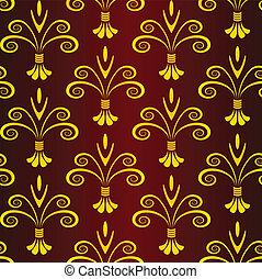 floral, patrón,  vector,  seamless