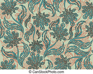 Floral pattern, about the background, the flora