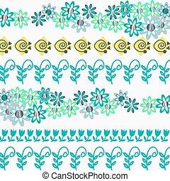 Floral pattern abstract design ornamental vector illustration