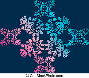 Floral pattern, background, lace