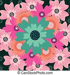 floral pattern decoration ornament flowers