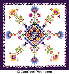 floral pattern folk