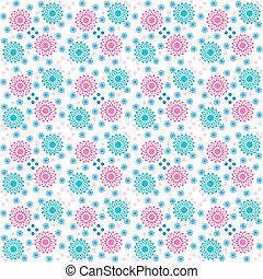floral pattern for printing (CMYK)