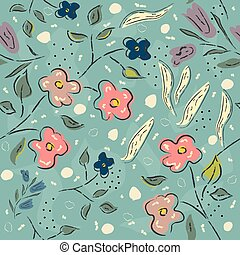 Floral Pattern. Hand Drawn. Vector Illustration
