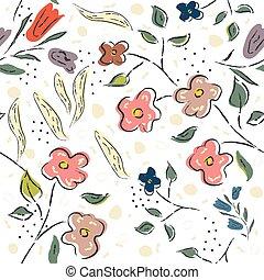 Floral Pattern. Hand Drawn. Vector Illustration
