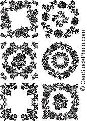 Floral Pattern in black