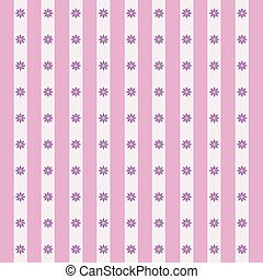 Floral pattern in pink