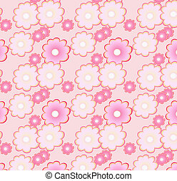 Floral pattern in soft pink colors