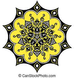 Floral pattern. Mandala