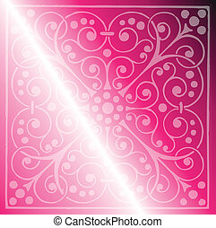 Floral Pattern on a Pink Background