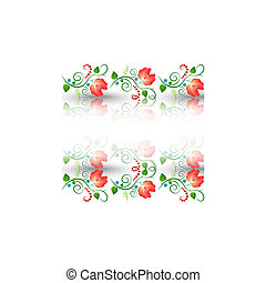 Floral pattern on a white background