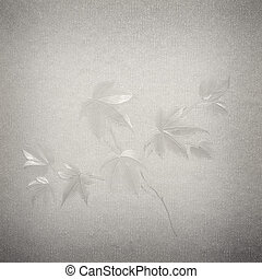 floral pattern on paper textured background