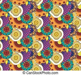 floral, pattern., seamless