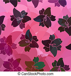 Floral pattern seamless retro.