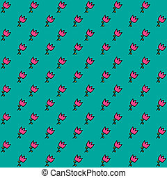 floral, pattern., seamless, vector.