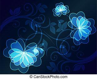 floral pattern.