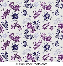 Floral pattern. Vector flower seamless background.