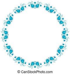 Floral pattern. Wallpaper vector background.