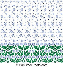 Floral pattern with border