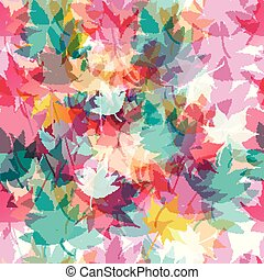 loral pattern with colorful foliage
