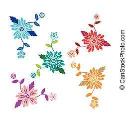 Floral pattern with flowers and leaves vector
