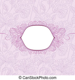 floral pattern with shield