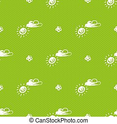 Floral Pattern with Sun Set Vector Illustration