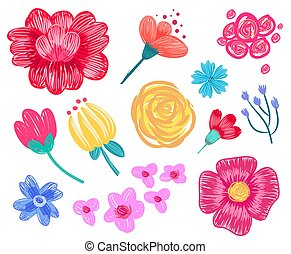Floral Patterns Collection on Vector Illustration