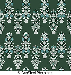 Floral patttern - Seamless floral pattern with vases