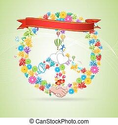 floral peace card