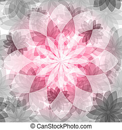 Floral pink-gray seamless pattern
