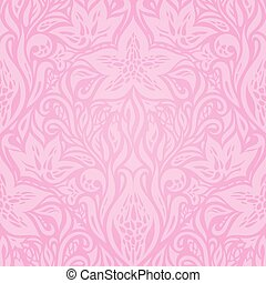 Floral Pink vector wallpaper design