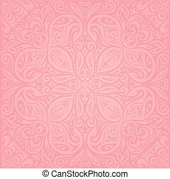Floral Pink vector wallpaper design mandala background